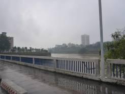 The river border between China and Vietnam