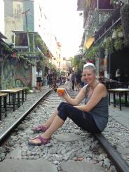 Enjoying cocktails on Railway Street