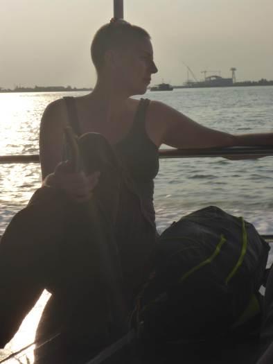 Serene ferry crossing