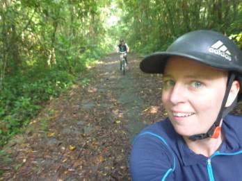 Cycling + taking selfie = weird face