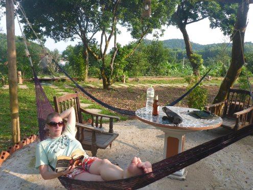 No pool, but hammocks will do