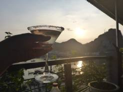 Cocktails for our last Cat Ba sunset
