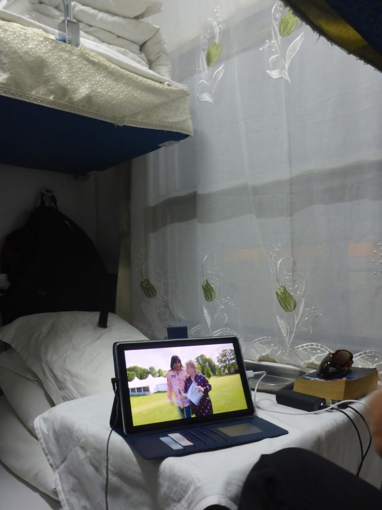 Home comforts: watching GBBO on a Vietnamese sleeper train