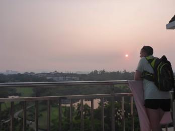 Balcony at sunset